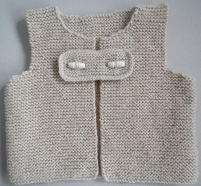tricot fait main laine b b gilet. Black Bedroom Furniture Sets. Home Design Ideas