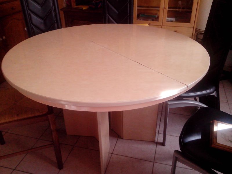 Table ovale avec ralonge