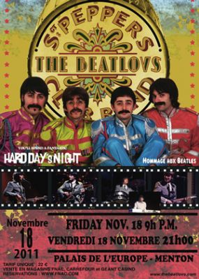 The Beatlovs, hommage au Beatles, en concert à Menton