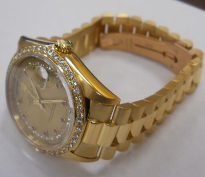 Rolex President Day Date Or 18k et Diamand