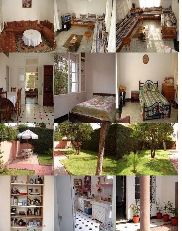 location vacance villa meubl e casablanca maroc 1100 dhs nuit gsm. Black Bedroom Furniture Sets. Home Design Ideas