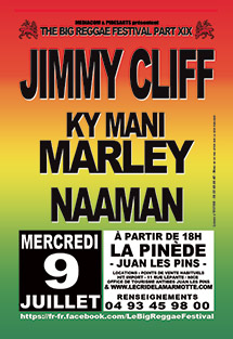 Jimmy Cliff au Big Reggae Festival le 9 Juillet 2014