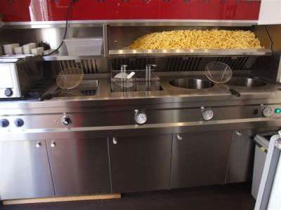 Remorque Friterie Snack frite Fritkot ambulant restauration rapide