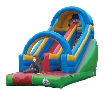 Chateau gonflable d occasion toboggan clown - Structure gonflable a vendre ...