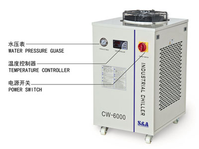 S&A CW-5200 water cooled chiller for cooling UVLED exposure machine