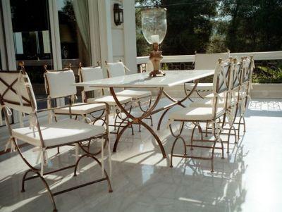 Mobilier jardin fer forge Meubles de jardin Table de jardin chaises ...
