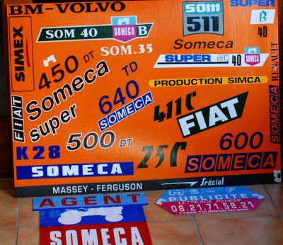 someca fiat  logos pour tracteur de collection
