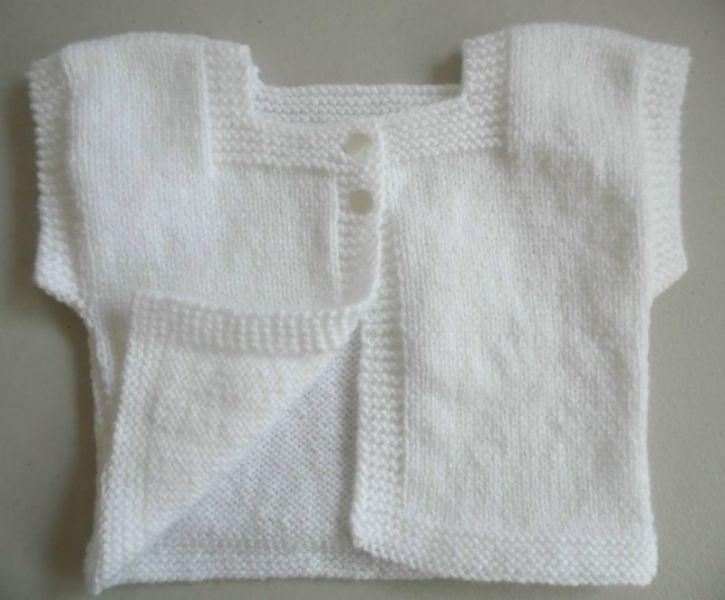 tricot laine b b gilet fait main. Black Bedroom Furniture Sets. Home Design Ideas