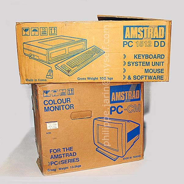 PC ordinateur Amstrad 1512 DD de 1987 (Rare)