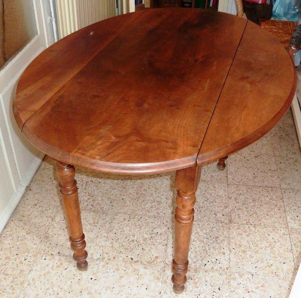 Table ovale noyer rallonges rabattables - Table ovale a rallonge ...