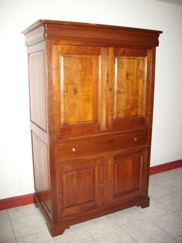 Meuble tv hifi en merisier - Donne meuble var ...